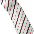 ER2 Red White Black Stripe Neck Tie