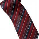 ER6 Red Black Batik Stripe Neck Tie