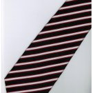 ER8 Red Black White Stripe Neck Tie