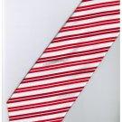 ER9 Red White Blinking Stripe Neck Tie