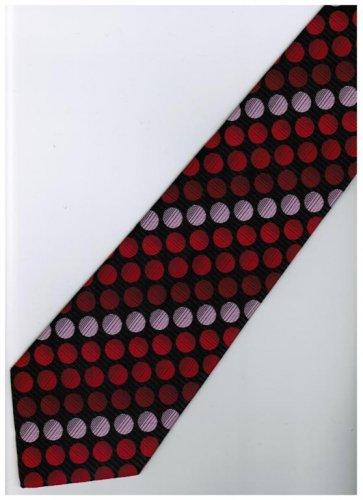 ER20 Red Pink Black Box Stripe Neck Tie