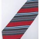 ER22 Red Blue Black White Stripe Neck Tie
