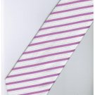 EPK03 Pink White Blinking Stripe Neck Tie