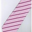 EPK04 Pink Purple White Blinking Stripe Neck Tie