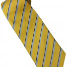 EY1 Yellow Blue Silver Stripe Neck Tie