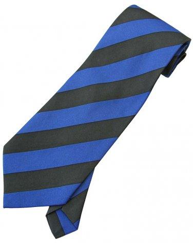 Blue Black Stripe Neck Tie