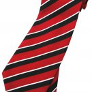 Red White Black Stripe Neck Tie