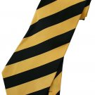 Yellow Black Stripe Neck Tie