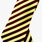 Yellow Maroon Stripe Neck Tie