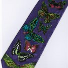 Butterfly Insect Animal PURPLE Fancy Novelty Neck Tie