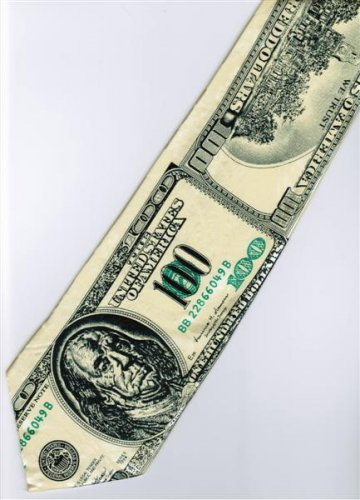 Money USA 100 Dollars Banknote Fancy Novelty Neck Tie