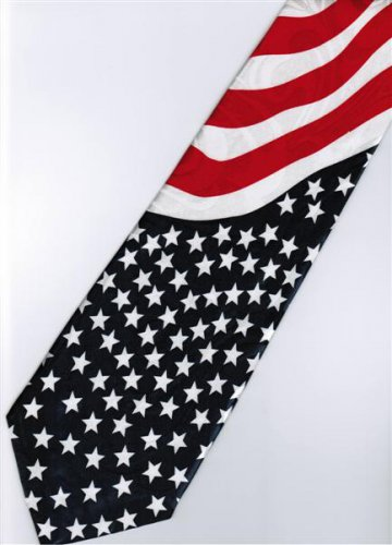 Patriotic American Flag Fancy Novelty Neck Tie 1