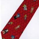 Chinese Opera Mask Fancy Novelty Neck Tie