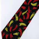 Red Yellow Green Chili Fancy Novelty Neck Tie