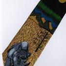 Rhino Mammal Animal Fancy Novelty Neck Tie