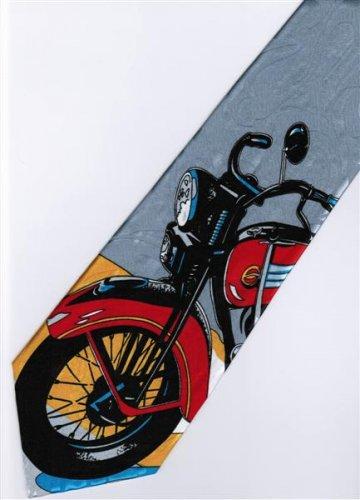 Vintage Antique Motorcycle Fancy Novelty Neck Tie