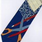 Composition Pencil Scissor Stationary Teacher Occupation Fancy Novelty Neck Tie