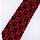 Halloween Radiation Symbol Skull Small Fancy Novelty Neck Tie