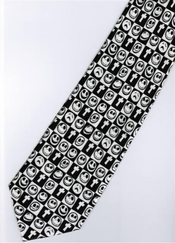 Halloween Skull Smiley Happy Face Jesus Christian Religious Fancy Novelty Neck Tie