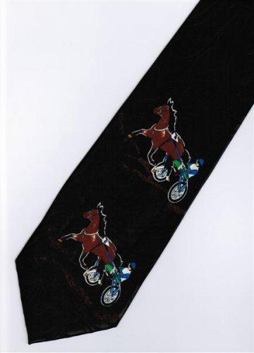 Man Riding Horse Sport Fancy Novelty Neck Tie