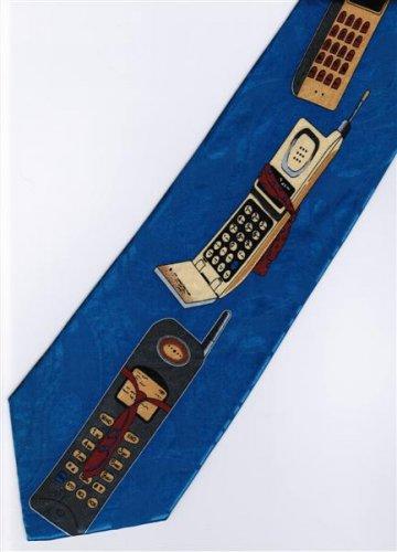 Vintage Hand Phone Fancy Novelty Neck Tie