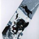 Snow Leopard Jaguar Mammal Animal Fancy Novelty Neck Tie