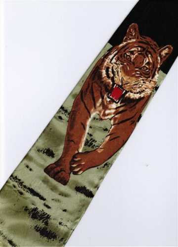 Tiger Mammal Animal Fancy Novelty Neck Tie 2