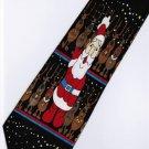 Christmas Santa Claus Xmas Reindeer Fancy Neck Tie 4