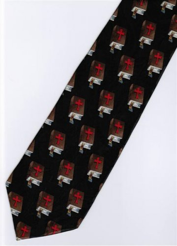 Jesus Christ Christian Holy Bible Religious Fancy Neck Tie