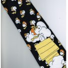 Snoopy Snow Dog DARK BLUE Cartoon Fancy Novelty Neck Tie