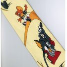 Tom and Jerry Golf YELLOW Cartoon Neck Tie
