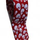 Halloween Symbol Skull White RED Slim Novelty Neck Tie