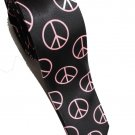 Peace Symbol PINK Slim Novelty Neck Tie