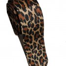 Leopard Spots Gold Brown Black Slim Novelty Neck Tie