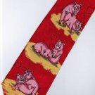 Valentine Day Pig Love 2 Fancy Novelty Necktie