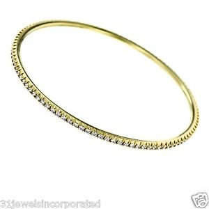 Tiffany & Co. Metro Diamond Bangle Bracelet in 18k Yellow Gold Eternity Style