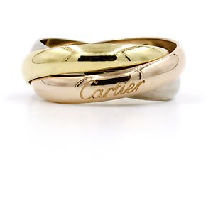 Trinity de Cartier Ring Size 6 in 18k Yellow, Rose and White Gold B4084900