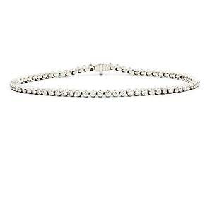"Tiffany & Co Jazz Tennis Bracelet in 950 Platinum with Diamonds Length 6.5"""