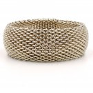 Tiffany & Co. Somerset Wide Bangle Mesh Bracelet in Sterling Silver