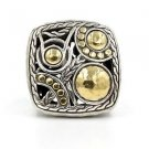 John Hardy Palu Ring in 22k Yellow Gold and Sterling Silver, Size 7.5