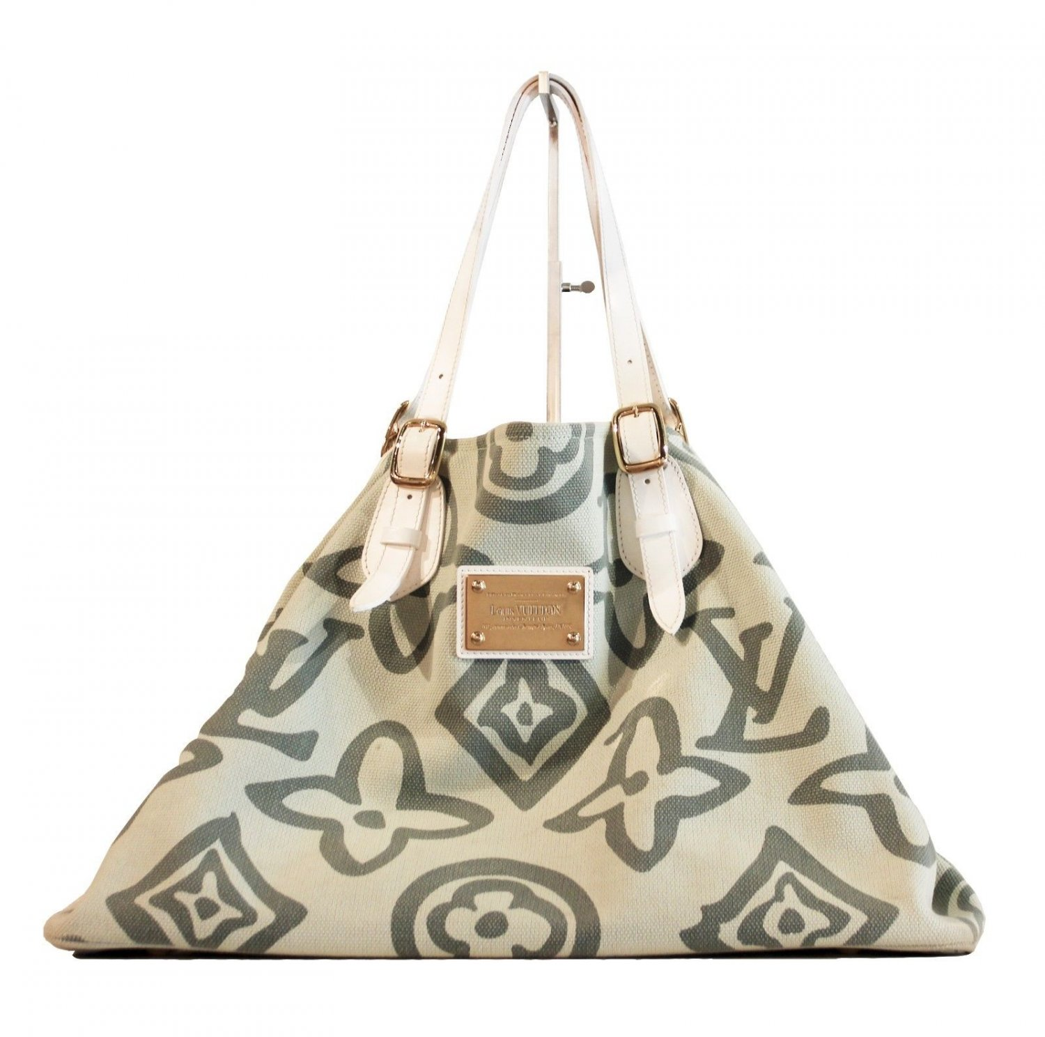 Louis Vuitton Limited Edition Tahitienne GM Tote Green & White with Dust Bag