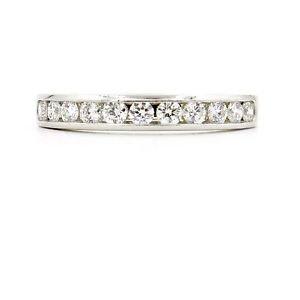 Tiffany & Co. 3mm Diamond Wedding Band in 950 Platinum Size 6