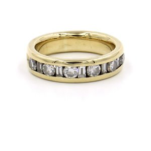 5mm Diamond Wedding Band in 18k Yellow Gold, CTW 1ct, Size 6