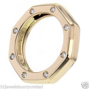 Audemars Piguet Royal Oak Diamond Narrow Band Ring in 18k Rose Gold Size 6.5
