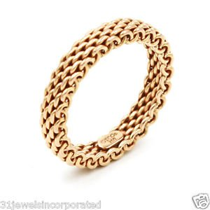 Tiffany & Co. Narrow Band Somerset Ring in 18k Rose Gold, Size 6