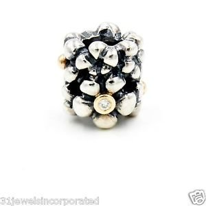 Pandora Diamond Daisy Charm in 14k Yellow Gold & Sterling Silver Style 790317D