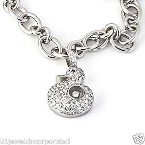 Brand New Chopard Happy Diamonds Duck Charm Bracelet in 18k White Gold .93TCW