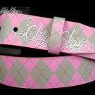 Argyle Pink Belt