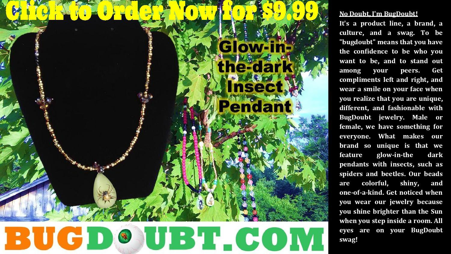 Earth Berry w/ Gold Spider Pendant