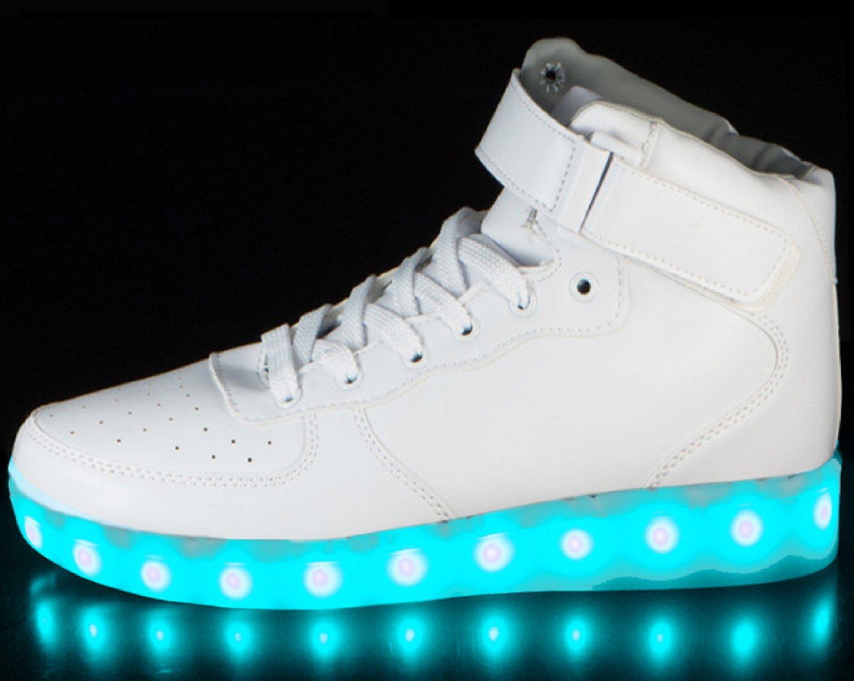 LED Shoes High Top White Men Sz 11